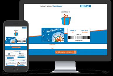 Digitale Decathlon Geschenkgutscheine